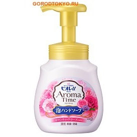 KAO «Biore U - Aroma Time Foaming Hand Soap Romantic Rose» Мыло-пенка для рук с романтичным ароматом розы, 230 мл.
