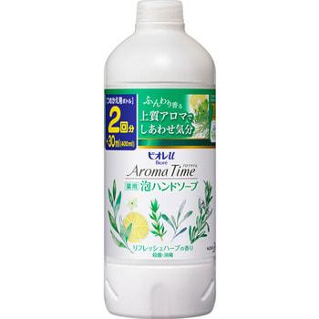 KAO �Biore U - Aroma Time Foaming Hand Soap Refresh herbs� ����-����� ��� ��� � �������� ������ ����, 400 ��, ������� ��������.