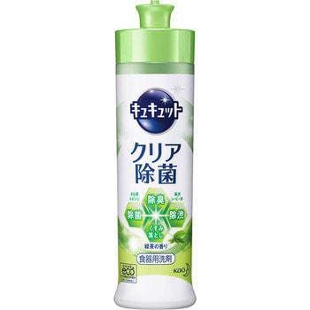"""KAO """"KyuKyutto"""" Дезинфицирующее средство с лимонной кислотой для мытья посуды, овощей и фруктов, с ароматом зелёного чая, 250 мл. (фото)"""
