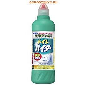 KAO «Disinfection Haiter» Дезинфицирующее чистящее средство для унитаза, 500 мл.Для туалета<br>Без труда избавляет от загрязнений и почернений, обладает мощным отбеливающим эффектом.  Отлично дезинфицирует.  Удобная форма носика позволяет нанести гель в самых труднодоступных местах.  Для очистки унитаза достаточно всего 20 мл геля и 3 минуты времени! Также можно применять для общей уборки в туалете ; 10 мл геля разведите в 1 литре воды, пропитайте ткань, протрите сиденье, крышку и бачок унитаза; смойте водой. Доверьте заботу о Вашем унитазе КАО - бренду №1 в Японии!  Состав: поверхностно-активное вещество (алкиламин оксида), гидроксид натрия (1%), гипохлорид.<br>