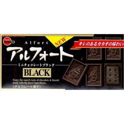 """BOURBON """"ALFORT MINI CHOCOLATE BLACK"""" Шоколадное печенье с ростками пшеницы и чёрным шоколадом, 55 гр."""