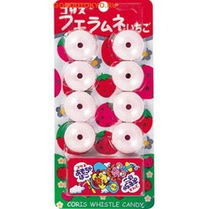 "Coris ""Fue Ramune Strawberry"" Конфетки-свистульки со вкусом клубники, 22 гр."
