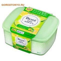 KAO Biore Освежающие и дезодорирующие салфетки для тела с прозрачной шёлковой пудрой, чистый цитрусовый аромат, 36 шт.