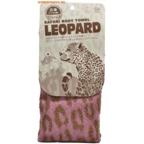 """MARNA """"Леопард"""" Мочалка с ребристой текстурой, средняя жёсткость, 20 см. на 100 см."""