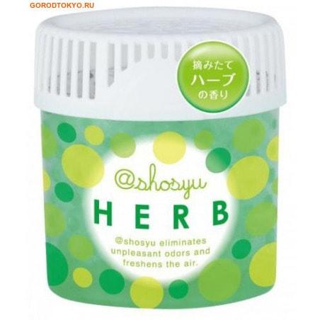 KOKUBO Поглотитель неприятного запаха, с ароматом трав, 150 гр.Для комнаты<br>Поглотитель Shoshyu эффективно удаляет неприятные запахи. Содержит дезодорирующий компонент растительного происхождения. Поглощает и нейтрализует неприятные запахи в доме, надолго освежая воздух. <br> Применение: снимите крышку и удалите пленку.  Плотно закройте средство крышкой и расположите на устойчивой поверхности. <br> Состав: 30% - вода, 5% - суперабсорбирующий полимер, 2 меркаптонпиридин N-оксид соль натрия, катехин, отдушка (ментол).<br>