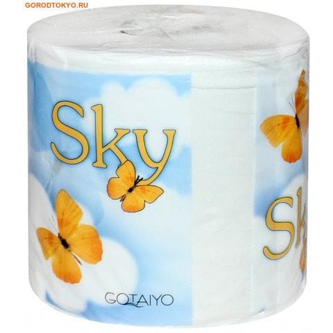 """GOTAIYO """"Sky"""" Трёхслойная туалетная бумага с ароматом ментола, 1 рулон."""