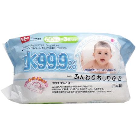 Фото iPLUS Детские влажные салфетки с гиалуроновой кислотой, со степенью очистки 99,9%, мягкие (пушистые), 80 шт.. Купить с доставкой