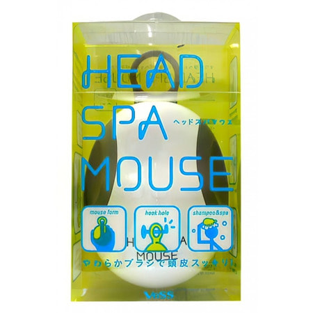 VESS Head spa mouse / Массажёр для кожи головы компьютерная мышь.МАССАЖЕРЫ ДЛЯ ГОЛОВЫ<br>Head spa mouse / Массажёр для кожи головы компьютерная мышь.<br> Для расслабляющего массажа кожи головы после тяжёлого трудового дня. Расслабляющий, не травмирующий кожу головы массаж возможен благодаря мягкому материалу, из которого изготовлены массирующие зубцы, расположенные в несколько уровней (разной высоты), что облегчает скольжение массажёра и повышает эффективность действия. Невероятно удобная форма массажёра (в виде привычной каждому формы компьютерной мыши) и держатель для пальца позволяет плотно зафиксировать массажёр в руке, даже не повредив длинные ногти во время массажа кожи головы.<br>