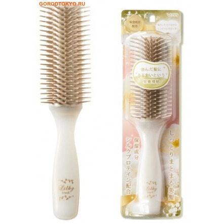 """VESS """"Likly brush"""" Щётка массажная для увлажнения и придания блеска волосам, с протеинами шёлка, большая. Размер: 21 см."""