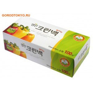 """MyungJin """"Bags Tissue type"""" Пакеты полиэтиленовые пищевые, в коробке, 17х25 см, 100 шт."""