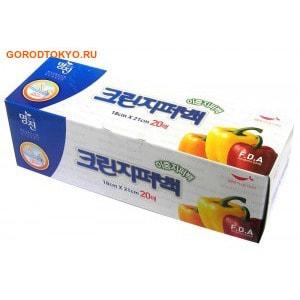 """MyungJin """"BAGS Double Zipper type"""" Пакеты полиэтиленовые пищевые, с двойной застёжкой-зиппером, в коробке, 18х21 см, 20 шт."""
