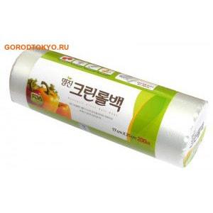 MyungJin BAGS Roll type Пакеты полиэтиленовые пищевые, в рулоне, 25х35 см, 200 шт.Плёнка и пакеты для продуктов<br>Безопасные, удобные и прочные пакеты изготовлены из полиэтилена низкого давления.  Предназначены для хранения пищевых и непищевых продуктов.  Упакованы в рулоны.  Используются в диапазоне температур от -60&amp;deg;С до 120&amp;deg;С.  Подходят для заморозки и разогрева продуктов в СВЧ печах.    Состав: HDPE F500 (полиэтилен низкого давления).<br>