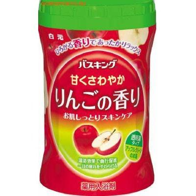 """HAKUGEN """"Bath King"""" Соль для ванны с восстанавливающим эффектом на основе углекислого газа с ароматам яблока, банка, 680 гр."""