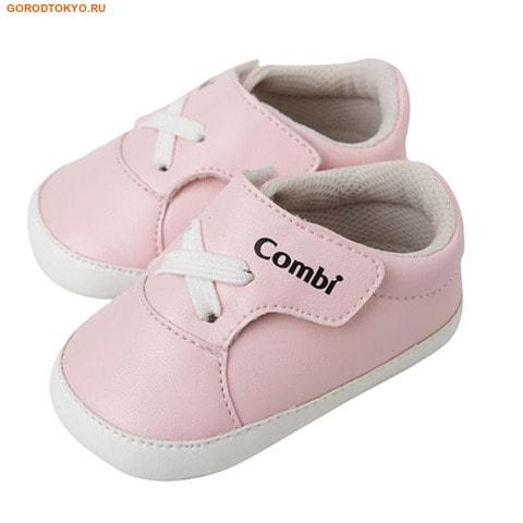 COMBI «Baby Infant shoe» детская обувь, нежно-розовый цвет.Детская обувь COMBI- Япония!<br>Обувь Combi делает движения малыша проще, обеспечивая приятную прогулку. Ножка малыша отличается от взрослой плохо развитой мускулатурой, по этому при ходьбе малыш опирается на полную стопу, обувь Combi принимает часть нагрузки с детских пяток и пальцев ног на себя.  Ножки ребёнка состоят из 70 хрящей. Первые 3 года являются критическим периодом для развития ног ребёнка. Неподходящая обувь может привести к неправильному развитию ног малыша. <br><br>Канавки на внешней поверхности подошве, позволяют легко согнуть стопу при ходьбе.<br>Подошва предотвращает скольжение.<br>Обувь плотно прилегает к ноге ребёнка.<br>Липучки позволяют тратить меньше времени при обувании ребёнка.<br>Небольшие отверстия в стельках обуви обеспечивают вентиляцию и комфорт.<br>Форма стельки поддерживает ноги малыша в правильном положение при ходьбе.<br>Поверхность обуви обеспечивает хорошую вентиляцию.<br>