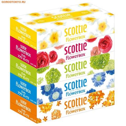 "Crecia ""Scottie Flowerbox'' Двухслойные салфетки, 5 пачек по 160 шт."