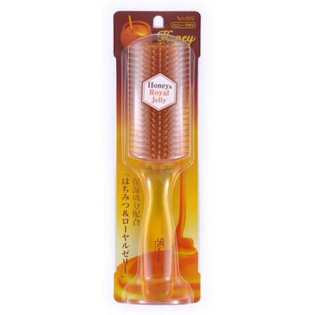 """Vess """"Honey Brush"""" Щетка массажная для увлажнения и придания блеска волосам с мёдом и маточным молочком пчёл, большая."""
