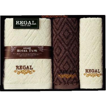 Honda Towel Набор полотенец в подарочной упаковке Regal: 60х120 см. - 1 шт., 34х80 см. - 2 шт.ПОЛОТЕНЦА В ПОДАРОЧНОЙ УПАКОВКЕ<br>REGAL хлопок 100% - серия полотенец, основанная на сочетании американских традиций и японского качества.  Великолепно впитывают влагу.  Элегантные полотенца REGAL подарят Вам незабываемые ощущения чистоты и комфорта, станут прекрасным украшением ванной комнаты.<br>