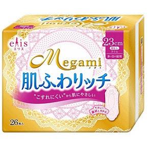 "Daio paper Japan ""Elis Megami 23 Skin Care Slim Normal"" Тонкие гигиенические прокладки без крылышек, пачка 26 шт."
