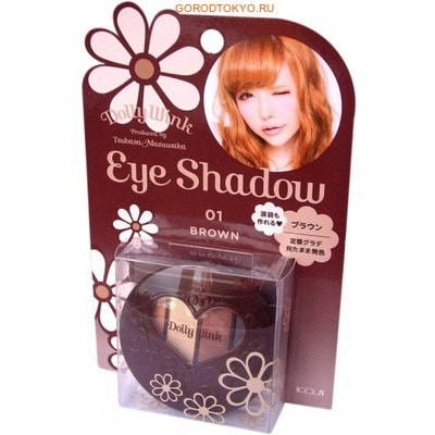"KOJI HONPO ""Dolly Wink Eye Shadow"" Тени для век четырёхцветные (01 - классический коричневый)."