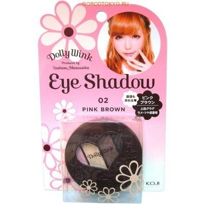 """KOJI HONPO """"Dolly Wink Eye Shadow"""" Тени для век четырёхцветные (02 - розовый и коричневый)."""