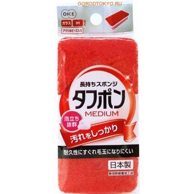 """Ohe Corporation """"Tafupon Medium Sponge R"""" Губка для мытья посуды (трёхслойная, верхний слой средней жёсткости). (фото)"""