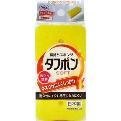 """Ohe Corporation """"Tafupon Soft Sponge Y"""" Губка для мытья посуды (трёхслойная, мягкий верхний слой). (фото)"""