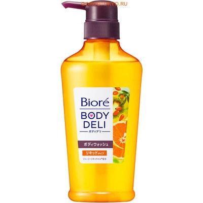 """KAO """"Biore Body Deli"""" Гель для душа с ароматом апельсина и шиповника, 400 мл."""
