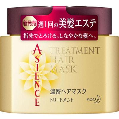 """KAO """"Asience"""" Маска для волос с маслом арганы и камелии, с фруктово-цветочным ароматом, 180 г."""