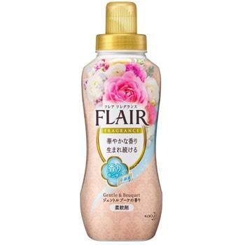 """KAO """"Flair Fragrance"""" Кондиционер для белья с антибактериальным эффектом, с ароматом белых цветов, 570 мл."""