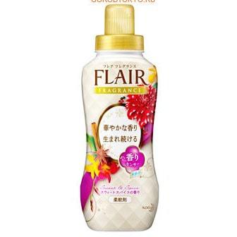"""KAO """"Flair Fragrance"""" Кондиционер для белья с антибактериальным эффектом, с ароматом пряностей, 570 мл."""