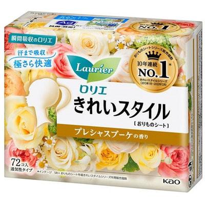"""KAO """"Laurier Beautiful Style"""" Ежедневные гигиенические прокладки, с фруктовым ароматом, 72 шт."""