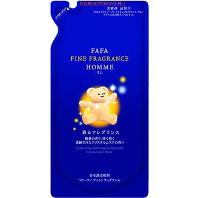 """Nissan """"FaFa Fine Fragrance Homme"""" Антистатический кондиционер-ополаскиватель для белья, с ароматом мускуса и бергамота, сменная упаковка, 500 мл."""
