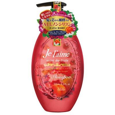 """KOSE Cosmeport """"Je l'aime"""" Шампунь для сухих и окрашенных волос """"Глубокое увлажнение"""", с абрикосовым маслом, без силикона, с фруктово-цветочным ароматом, 500 мл."""