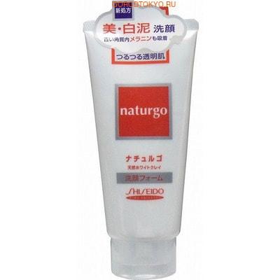"""SHISEIDO """"Naturgo"""" Пенка для лица """"Естественное очищение"""" с белой глиной, с цветочно-травяным ароматом, 120 г."""