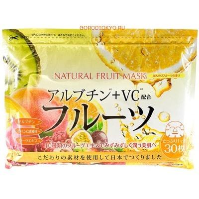 JAPAN GALS Курс натуральных масок для лица с экстрактом фруктов, 30 шт. тканевые маски и патчи japan gals japan gals курс натуральных масок для лица с экстрактом розы 30 шт