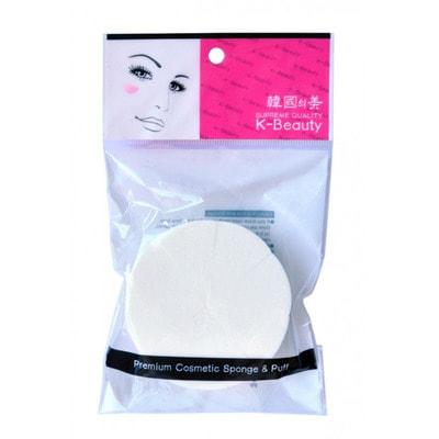 K-Beauty Спонж косметический Круг, 8 сегментов, в индивидуальной упаковке.