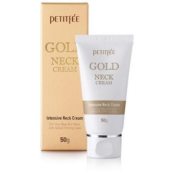 PETITFEE Gold Neck Cream Крем для шеи и декольте с золотом, 50 г.