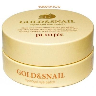 Купить со скидкой PETITFEE Маска для кожи вокруг глаз гидрогелевая, с золотом и экстрактом слизи улитки, 60 шт.