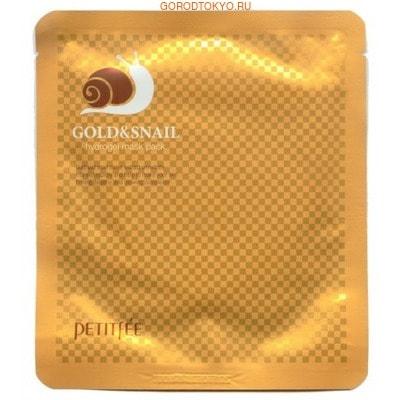 Фото PETITFEE Маска для кожи лица гидрогелевая, с золотом и экстрактом слизи улитки, 30 г.. Купить с доставкой