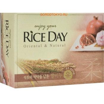 CJ LION Riceday Мыло туалетное с экстрактом граната и пиона, 100 г. cj lion мыло туалетное с эффектом скраба пять злаков riceday 100 г
