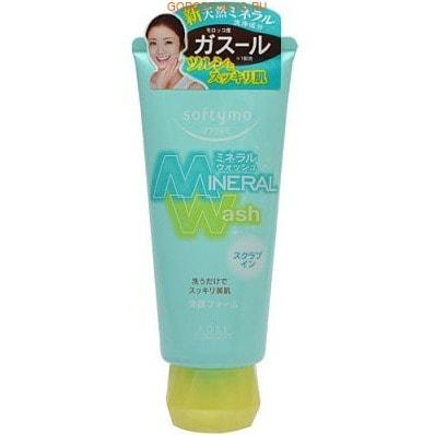 "KOSE Cosmeport ""Softymo Mineral Wash"" Пенка-скраб для умывания с цветочным ароматом, 130 г."
