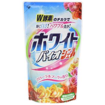 """NIPPON DETERGENT """"White Bio gel Floral Bouquet"""" Гель для стирки с отбеливающей, дезодорирующей и смягчающей функцией, 810 мл. Сменная упаковка."""