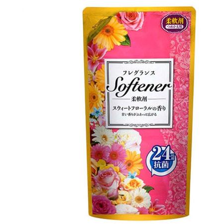"""Nihon """"Softener foral"""" Кондиционер для белья с цветочным ароматом, сменная упаковка, 500 мл."""