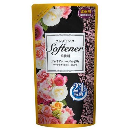 NIPPON DETERGENT Softener premium rose Кондиционер для белья с ароматом розы, сменная упаковка, 500 мл.Кондиционеры для белья<br>Кондиционер-ополаскиватель сделает мягкими, пушистыми, приятными на ощупь свитера, полотенца, одеяла, постельное бельё, нижнее бельё и пр. ткани.  Восстанавливает водопоглощающие свойства и предотвращает наэлектризованность.  Антибактериальный компонент подавляет рост бактерий в тканях, предупреждает развитие неприятных запахов в процессе носки или сушки во влажных помещениях.  Кондиционер отлично дезодорирует ткани, убирает въевшиеся посторонние запахи (табака, краски, гари и пр.), дарит вещам богатый аромат роз.  Для любых типов ткани.   Состав: алкилсульфат натрия эфир, натрия октил эфира сульфат, миристилового бетаин, тринатрийцитрата, этиловый спирт, натрия сульфонат мета-ксилол, диэтаноламина, гидроксид натрия, консерванты, отдушки.<br>
