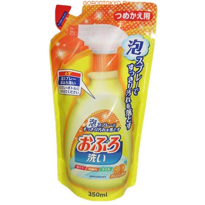 "NIPPON DETERGENT ""Foam spray Bathing Wash"" Чистящая спрей-пена для ванны, сменная упаковка, 350 мл."