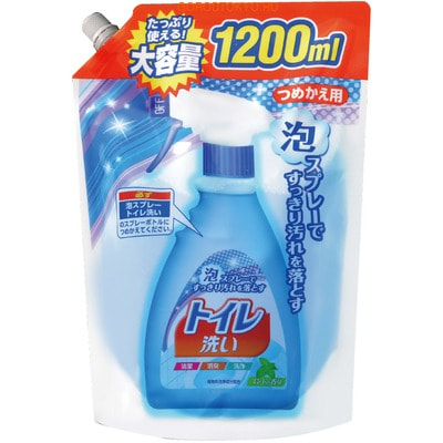"NIPPON DETERGENT ""Foam spray toilet Wash"" Чистящая спрей-пена для туалета, сменная упаковка, 1200 мл."