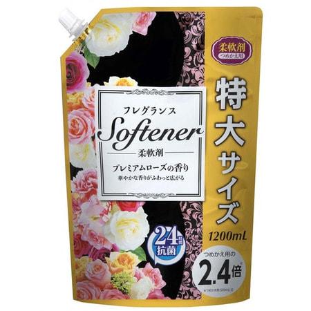 """Nihon """"Softener premium rose"""" Кондиционер для белья с ароматом розы, 1200 мл."""