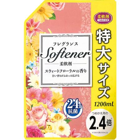 """NIPPON DETERGENT """"Softener foral"""" Кондиционер для белья с цветочным ароматом, 1200 мл."""
