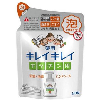 LION KireiKirei Кухонное антибактериальное мыло-пенка для рук, с маслом цитрусовых, 180 мл.Жидкое мыло для рук<br>Новое кухонное мыло-пенка разработано специально для очищения и ухода за кожей рук после приготовления пищи и мытья посуды.  Пенка приятна и удобна в использовании, имеет замечательный свежий аромат.  В состав входит бактерицидный компонент, который бережно дезинфицирует кожу рук после сырого мяса, рыбы, сырых овощей с остатками грунта и т.п.  Компоненты, растворяющие жир, помогают удалить с кожи вязкую жирную пленку от пищи.  Масло цитрусовых прекрасно удаляет посторонние запахи от продуктов, в.т.ч. от лука, чеснока, свежей или соленой рыбы, а также питает и восстанавливает нежную кожу рук, препятствует ее стягиванию и пересыханию.  Может также применяться для мытья овощей, фруктов и посуды.<br>