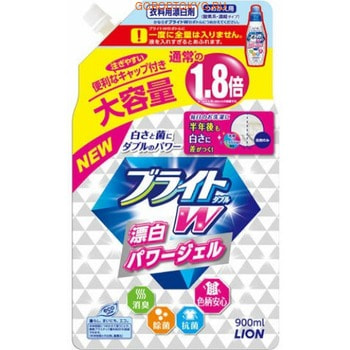 """LION """"Bright W"""" Дезинфицирующий жидкий пятновыводитель для цветного белья """"Яркость Plus"""", сменная упаковка, 900 мл."""